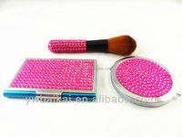 Colorful set with flower diamond cosmetic set
