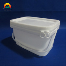 Food grade 5 gallon square plastic bucket with lid and handle