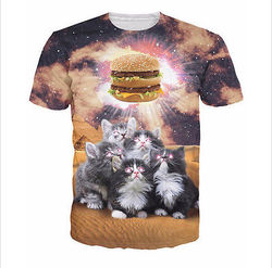 Cat t shirt for men and women unisex crewneck t-shirt high quality low price printing t shirt