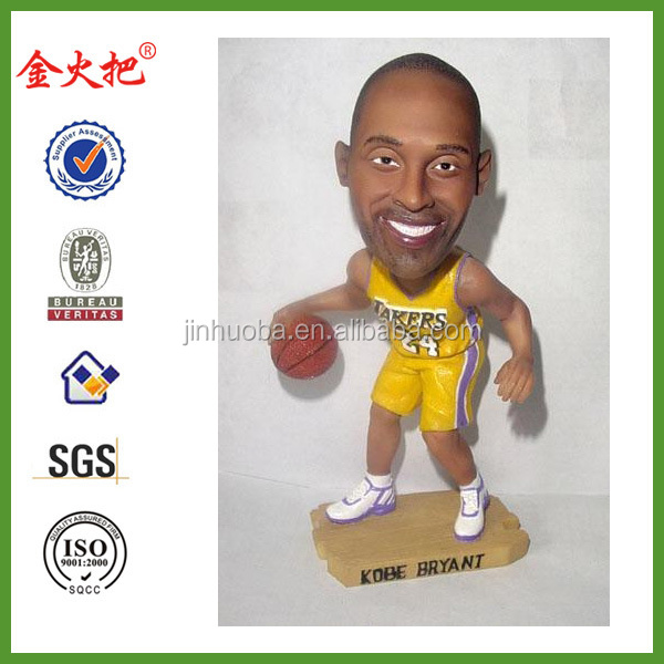 New polyresin resin Kobe Bryant bobble head wholesale
