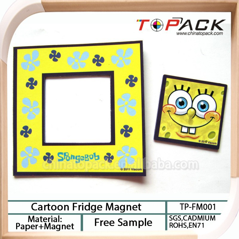 Customized colorful cartoon paper fridge magnet