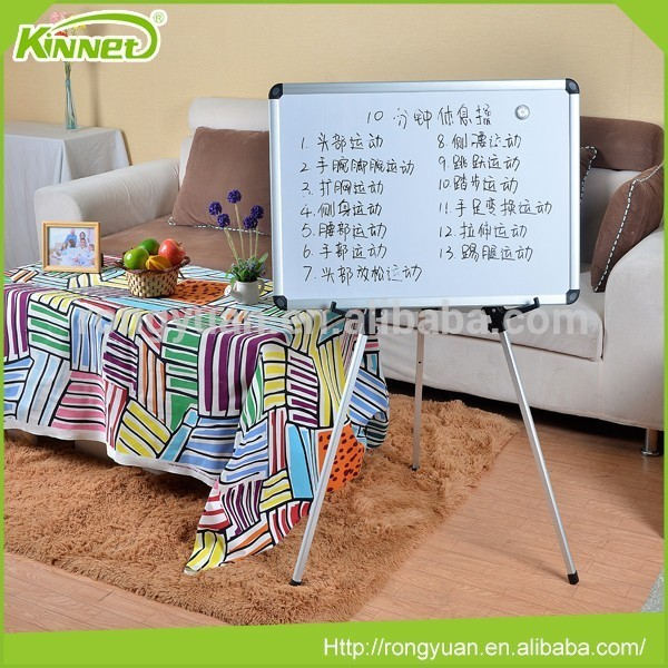 Free standing office equitment magnetic whiteboard with easel
