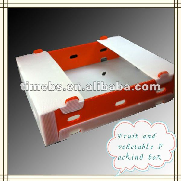 Fresh plastic corflute packaging fruit & vegetable box