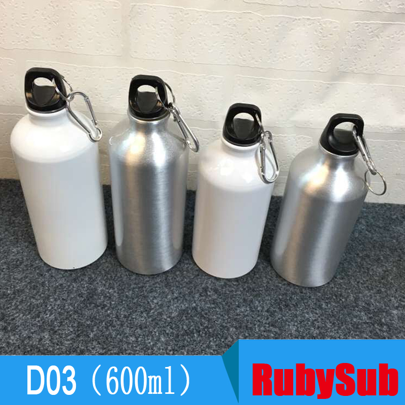 600ml Sport aluminium travel water bottle sublimation Climbing kettle Sport Bottle