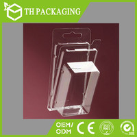 Square packaging box/ clear plastic folding packaging boxes blister clamshell plastic packaging box for cell phone accessories