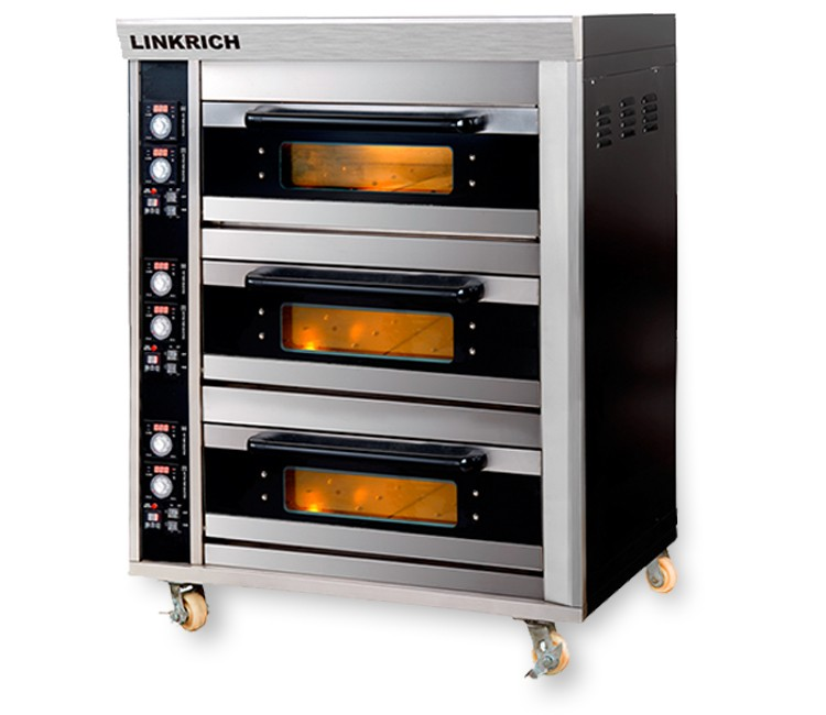 LINKRICH LR-ES-36 High Cost Performance Bakery Equipment Deck of Cabinet Oven/Bakery Baking Deck Oven