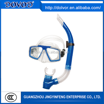 Silicone and PVC material available diving equipment diving mask snorkel set