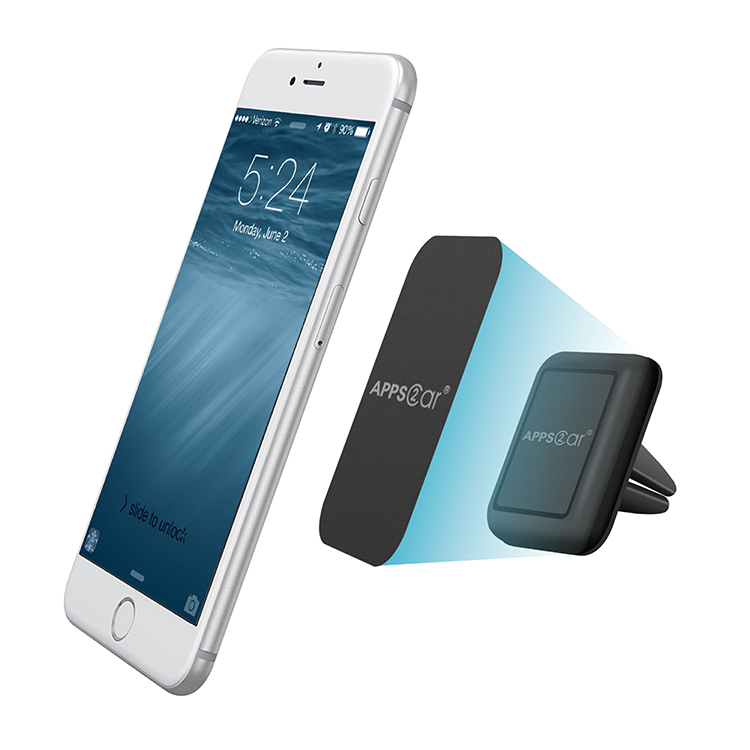 Universal For Iphone Clip Mobile Air Vent Cell Phone Mount Magnetic Car Phone Holder