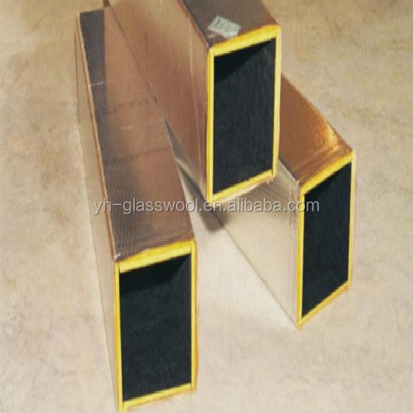 Fiberglass wool Board faced with tissue for air-conditioner duct insulation