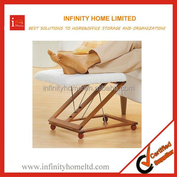 Wooden Folding Rocking Footrest Stool Leg Rest Support