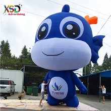 Huge inflatable cartoon dragon characters for advertising