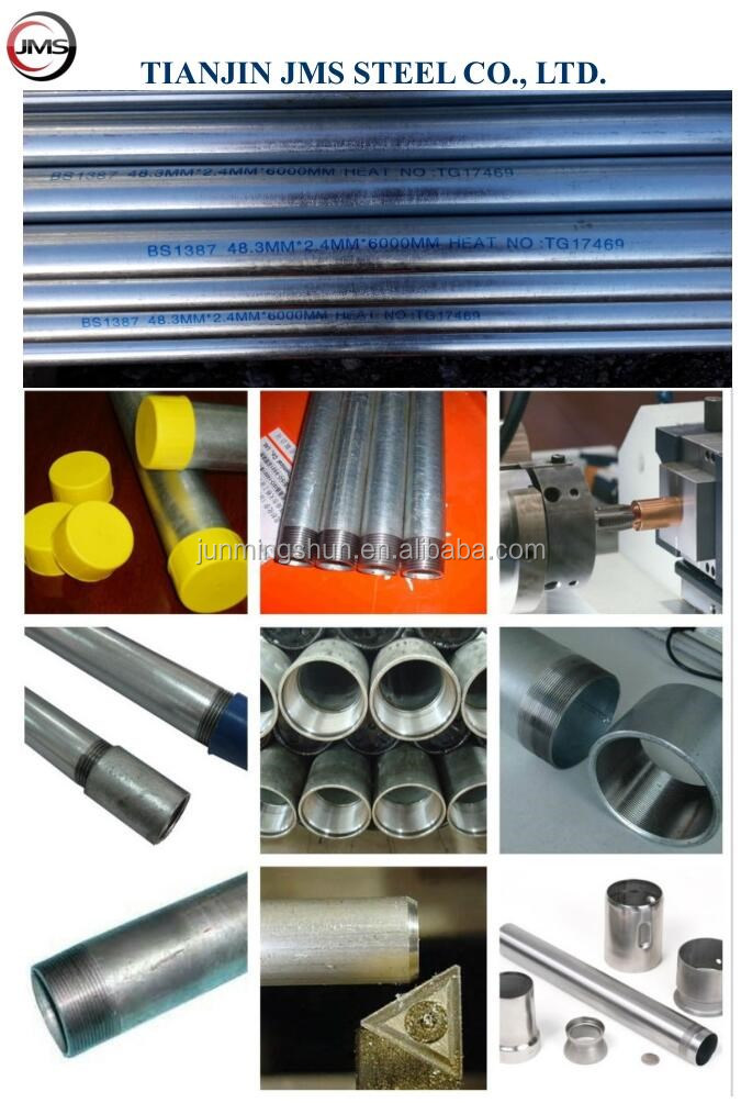 bs4568 25mm diameter hot dipped galvanized emt steel pipe conduit pipe