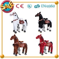 HI top quality kid toy brown ride on horse toy,kid riding horse toy,twin ride on toys