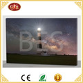 led lighthouse canvas painting new design, light up canvas printing with everyday design for home decor