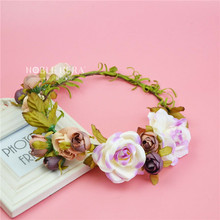 New Festival Indian Wedding Flower Artificial Garland For Bride