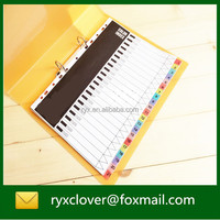 hot sell colorful index tab file paper divider