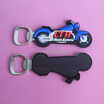 promotion Motorcycle shaped bottle opener wholesale cheap Motorcycle Bo(BOX-ogo pvc bottle opener-235b)
