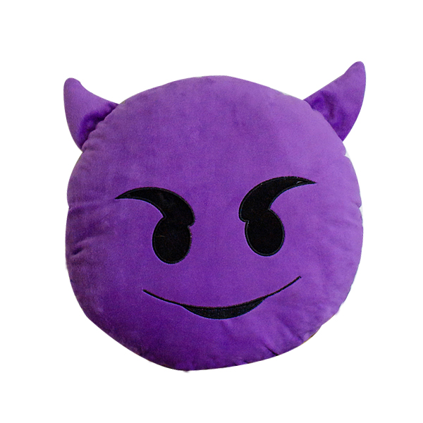 Wholesales Promtion Round Soft Cotton Toys Plush Emoji Pillow