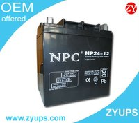 12V 6V 2V Lead Acid Battery for UPS 12V24AH 12v 50ah lead acid battery