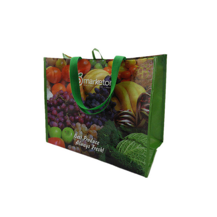 Reusable Eco woven PP laminated standard size shopping bag