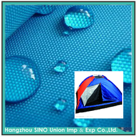 Hangzhou textile 100% polyester waterproof transparent pvc fabric