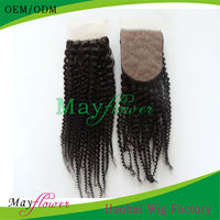 Factory cheap silk invisible part closure malaysian virgin hair jerry curl brown skin for American African lady
