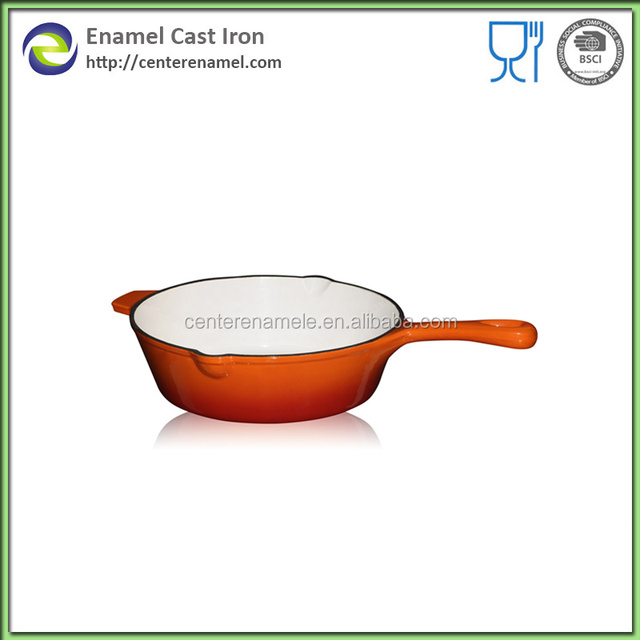 cosmetic cast iron stew pot and spaucepan