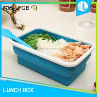 Collapsible microwaveable portable office single large container lunch box