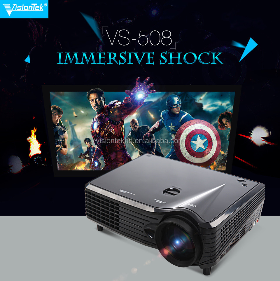2017 Hot sale China Made DVD TV HDMI USB Portable LCD Video 2000Lumens HD LED Home Theater Projector