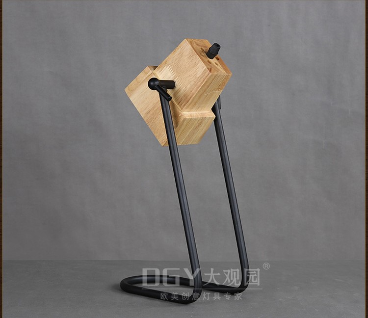 Novelty Lamp Base : Novelty Iron Base Small Portable Bed Lamp Wooden Table Lights For Home Office And Hotel ...