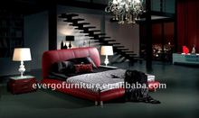red PU leather bed king size queen size double size