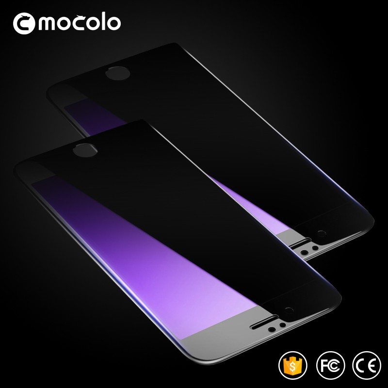 Black color Tempered Glass Protective film for iphone 6 Protective eye screen Mocolo 3D glass for iphone 6Plus with gift box