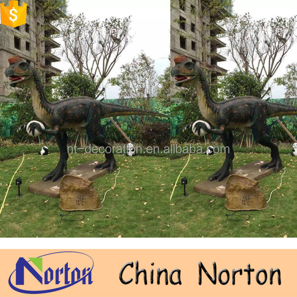 Animatronic realistic walking large dinosaur sculptures NTFD-211A