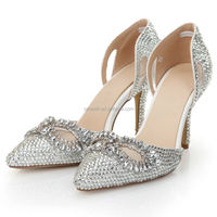 CATWALK-S060255 women shoes wedding dress party shoe fashion ladies high heel shoes with upper diamond rubber sole