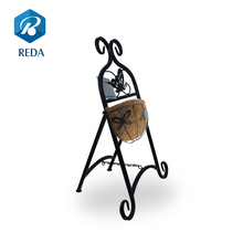 Hot sale special design iron flower pot stand basket