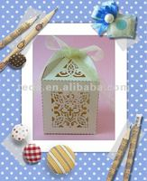 "2012 Laser cut ""Cross"" style wedding favor gift box"