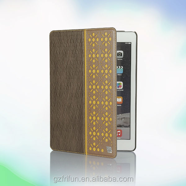 Flip stand China factory tablet PU leather case cover for ipad