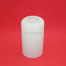blown white frost tube shape glass cylinder lamp shade