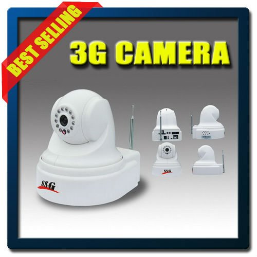 3G Wireless Network Video Camera with Home Intruder Alarm System for Remote Video Monitors/Controls
