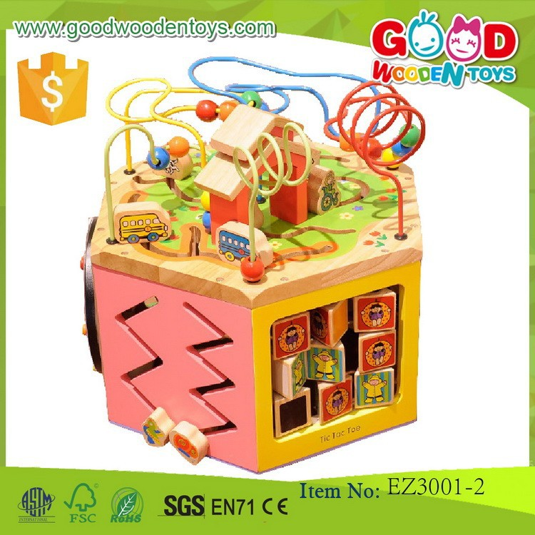 newest promotional discounts bead toy OEM wooden children game bead toy for kids