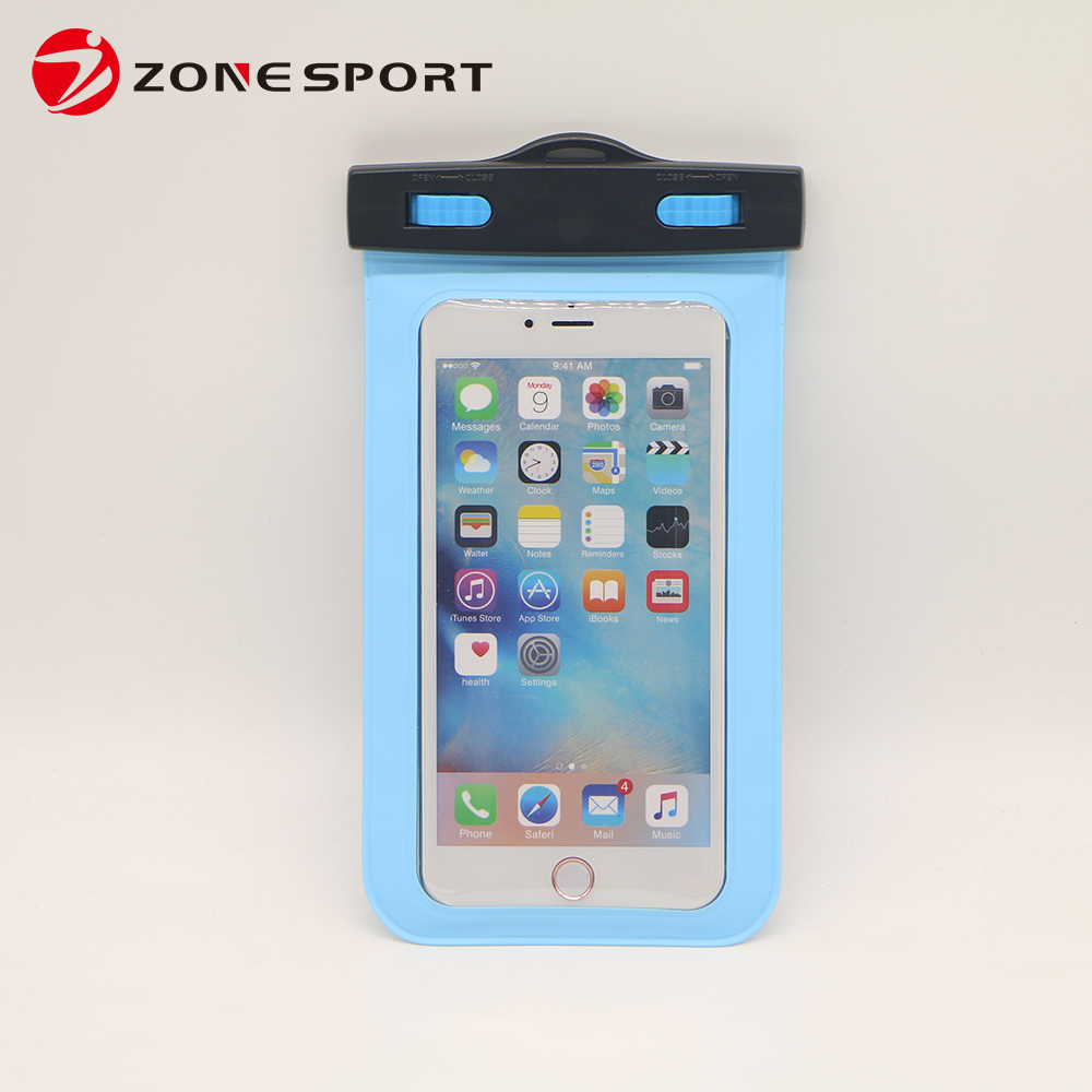 2016 waterproof neck pouch/waterproof dry bag with neck cord/ PVC cell phone waterproof bag
