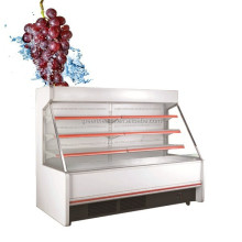 2M heighth vegetable display chiller / commercial cooler open top / fridge for cold drinks