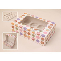 High Quality Paper Cupcake Box Packaging, Printing Cupcake Box Packaging