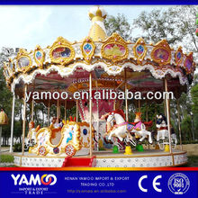 Express Alibaba Attraction Luxury Colorful Park and Rides Kitchen Carousel Riding Horse Toys for Sale