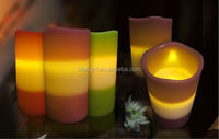 China Wholesale remote control LED Flash Flameless Candle Moving Wick Wax LED candle