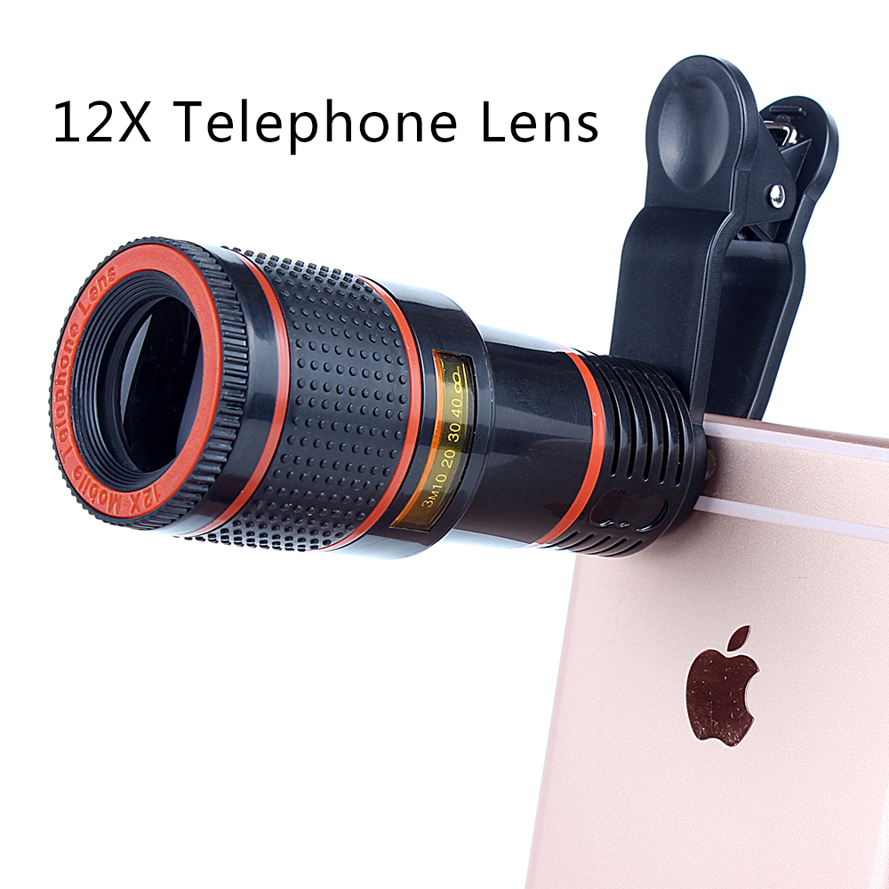 hot selling 12x telescope telephoto zoom phone camera lens for mobile phone ,iphone ,huawei, sumsang