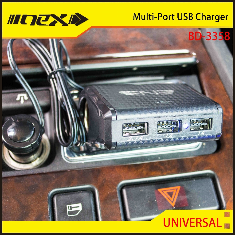 Multi Port Car USB Charge with socket