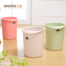 Cheap plastic pink green rose gold rubbish bin trash containers waste can