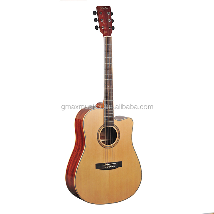 Buatan Tangan Semua Padat Akustik Gitar Alat Musik Gitar