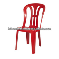 FCA 3328 Felton Modern Stackable Plastic Red Chair